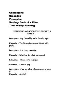 Porcupine and Crocodile go to the seaside.