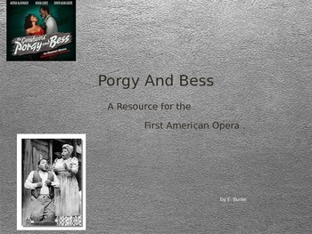 Porgy And Bess, A Resource
