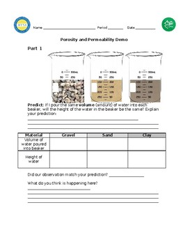 Porosity and Permeability Lab/Demo