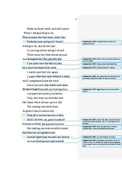 Porphyria's Lover by Robert Browning Annotated Poem