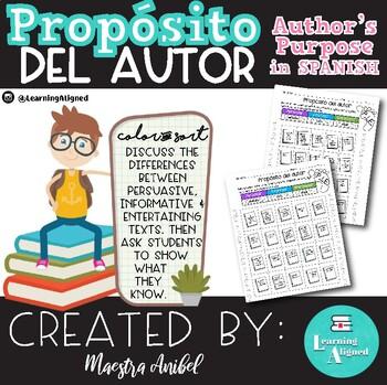 Porpósito del autor - Author's Purpose Spanish