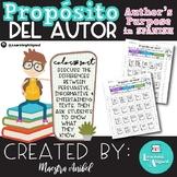 Propósito del autor - Author's Purpose in Spanish (Color & Sort)