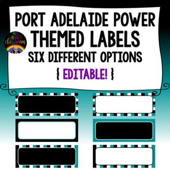 Port Adelaide Power Themed Labels {Editable!}