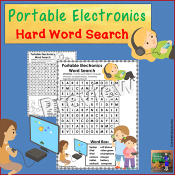 Portable Electronics Technology Word Search *Hard