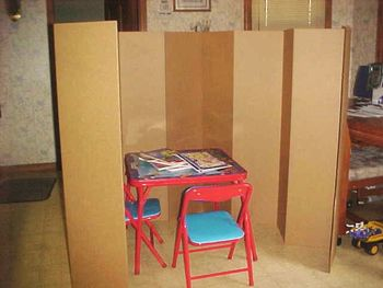 Portable Folding Privacy Screen Testing Screen Time Out -Free Standing!