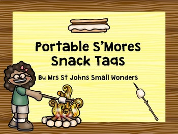 Portable S'Mores Snack Tags
