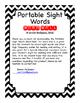 Portable Sight Words: Individual Word Wall FREEBIE