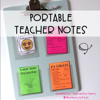 Portable Teacher Notes (EDITABLE)