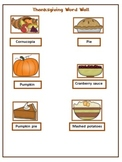 Portable Thanksgiving Word Wall for Students