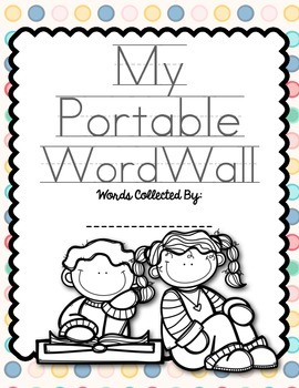 Portable Word Wall for Individual Student Use