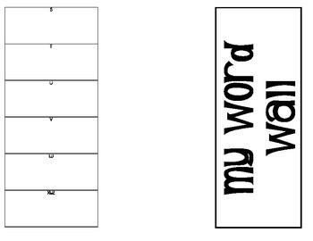Portable Word Wall