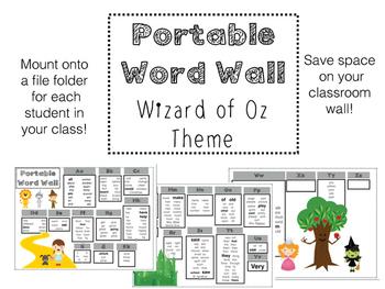 Portable Word Wall by Mrs  Hodges | Teachers Pay Teachers