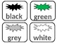 Portable Word Wall: Color words