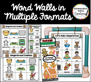 Gingerbread Word Walls: Gingerbread / December Thematic Word Lists
