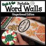 Gingerbread Word Walls: December Thematic Word Lists Winte