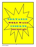 Portable Word Wall- Dolch Word Lists