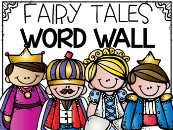 Portable Word Wall:  Fairy Tales