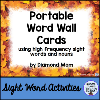 Portable Word Wall - Fall Edition