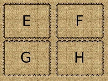 Portable Word Wall Farmhouse Style