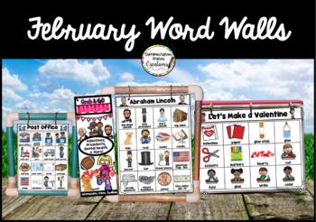 February Word Wall: Groundhog, Valentine, Dinosaur Thematic Word Lists