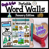 January Word Wall: Penguins, Hibernation, Winter Thematic Word Lists