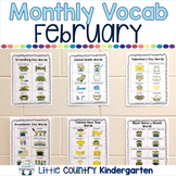 Portable Word Wall Monthly Themed Vocabulary: February Bundle