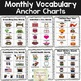 Portable Word Wall Monthly Themed Vocabulary: February