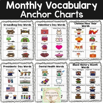 Monthly Vocabulary Word Wall: February