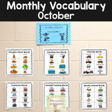 Monthly Vocabulary Word Wall: October