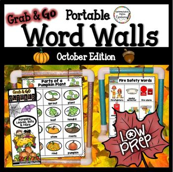 Portable Word Wall: October & Fall Thematic Word Lists