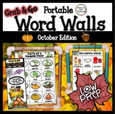 October Word Wall: Fall Thematic Word Lists Bats, Pumpkins, Fall
