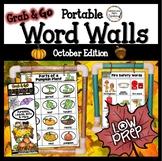 October Word Wall: Fall Word Walls Bats, Pumpkins, Fall, Halloween