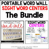 Portable Word Wall (Polka Dots) and Sight Word Centers Bundle