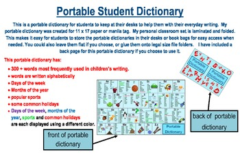 Student Dictionary With 300+ Most Frequently Written Words By Children
