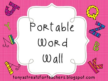 Portable Word Wall a-z