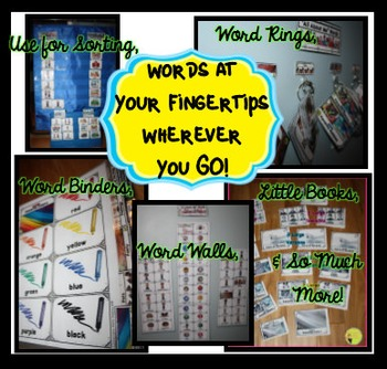 All About Me Word Wall: Portable Word Walls & Little Books, Fall Word Walls