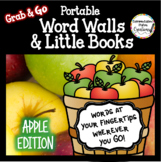 Portable Word Wall and Little Books: Apple Words