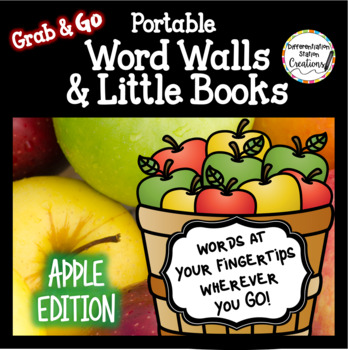 Apple Word Walls: Portable Word Wall & Little Books, Fall Word Walls