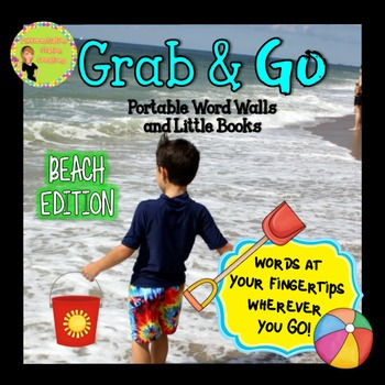 Portable Word Wall and Little Books: Beach