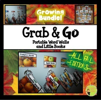 Portable Word Wall and Little Books: Fall BUNDLE