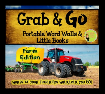 Portable Word Wall and Little Books: Farm Word Walls