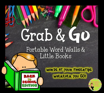 Portable Word Wall and Little Books: School