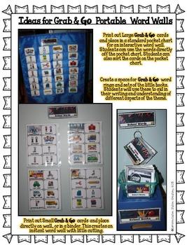 Portable Word Walls & Little Books, School Word Walls, Fall Word Walls