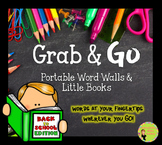 Portable Word Walls & Little Books, School Word Walls, Fal