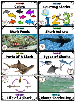 Sharks Word Wall: Portable Word Wall and Little Books