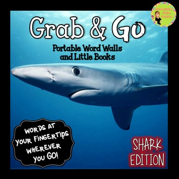 Portable Word Wall and Little Books: Sharks