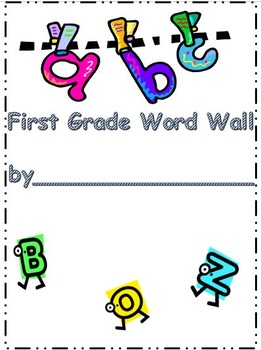 Portable Word Wall for First Grade