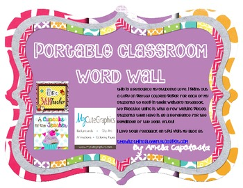 Portable Word Wall for Writing