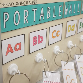 Portable Word Wall with Editable Word Cards
