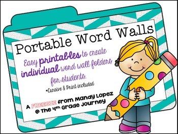 Portable Word Walls FREEBIE